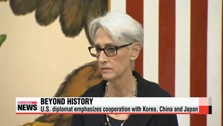 U.S. diplomat emphasizes cooperation with Korea, China and Japan
