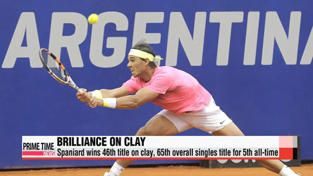 Rafael Nadal wins at Argentina Open for first title in 9 months