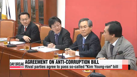 Rival parties agree to pass comprehensive anti-corruption bill