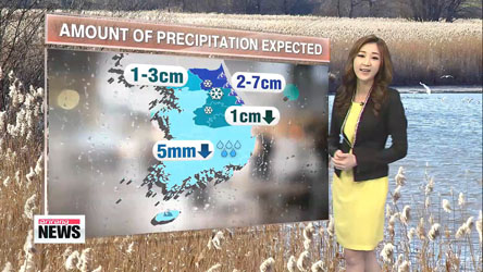 Rain or snow expected until evening nationwide