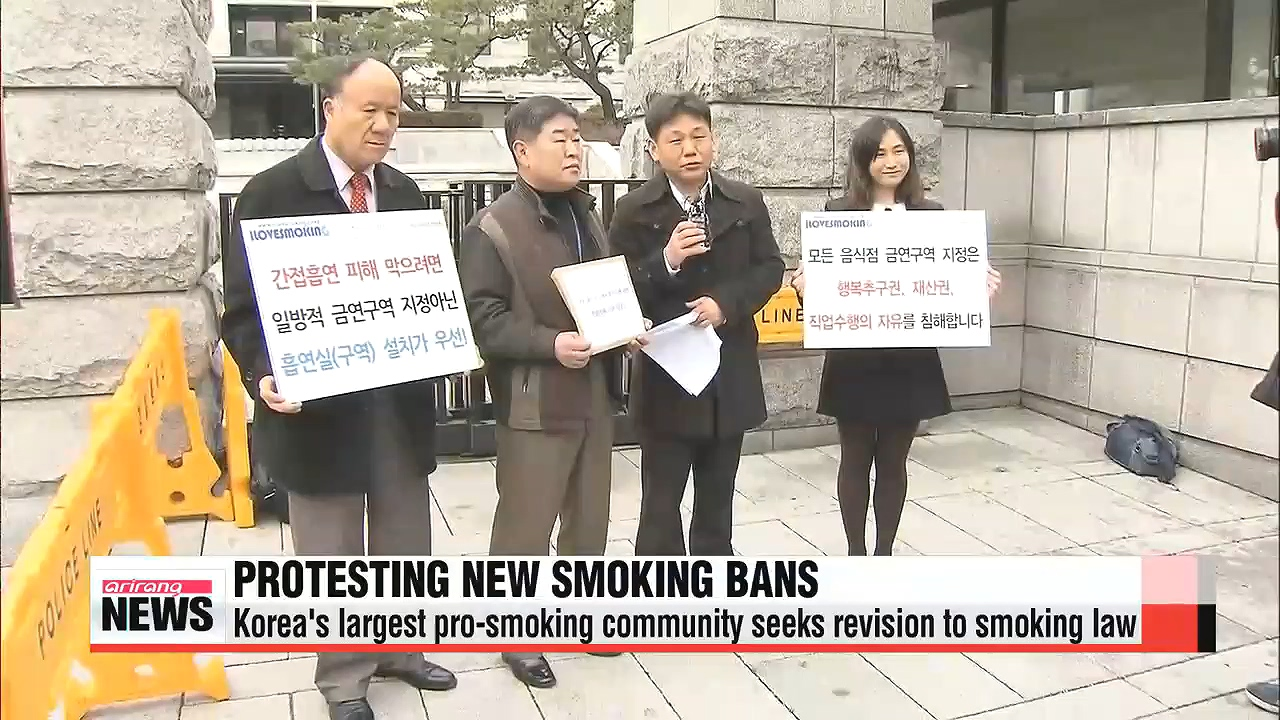 Strong backlash from smokers in Korea over new smoking law