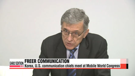 Korea, U.S. communication chiefs meet at Mobile World Congress