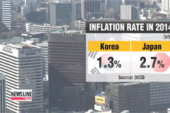 Korea's consumer prices grew slower than Japan's last year
