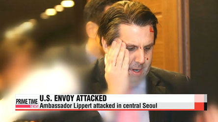 U.S. envoy attacked in central Seoul