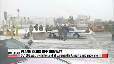 New York's LaGuardia airport resumes operations after plane skids off runway