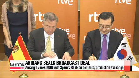 Arirang TV, RTVE sign MOU for contents & production exchanges