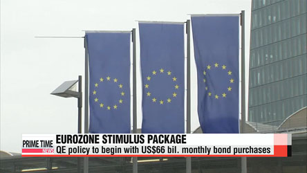 European Central Bank US$1.1 tril. stimulus launches Monday