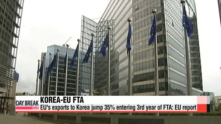 EU trade balance with Korea improves on back of FTA