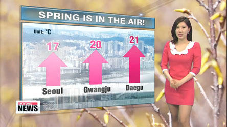 Warmer today, pleasant spring day