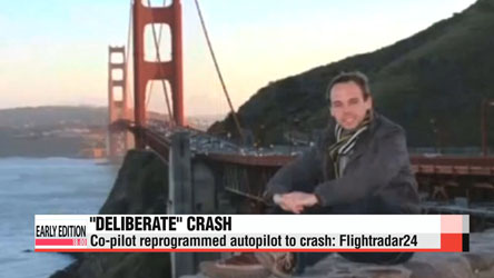 Prosecutor says Germanwings co-pilot crashed deliberately