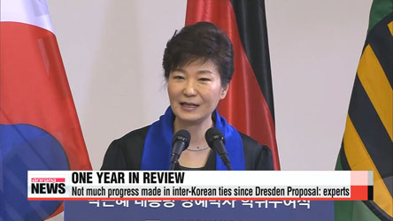 One year on since Dresden Proposal, outlook for inter-Korean ties remains bleak