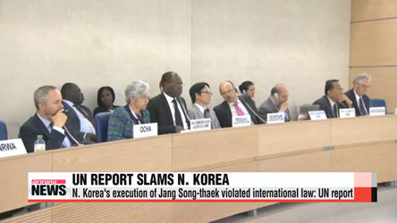 N. Korea's execution of Jang Song-thaek clear violation of international law: UN report