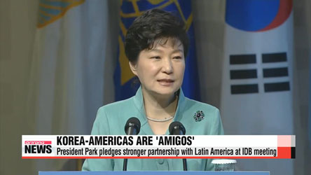 President Park stresses solidarity with Latin America prior to Singapore departure