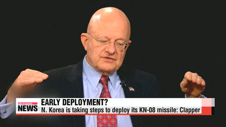 U.S. intelligence chief says N. Korea is taking steps to deploy KN-08
