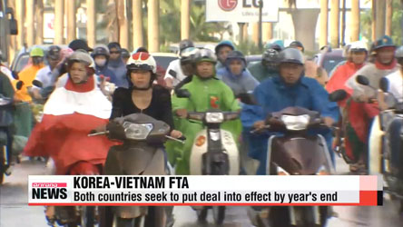 Korea, Vietnam initial bilateral free trade agreement