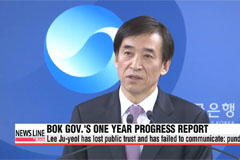 BOK governor Lee Ju-yeol's nears one year in office