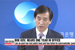 BOK governor Lee Ju-yeol faces tough criticism after one year at helm