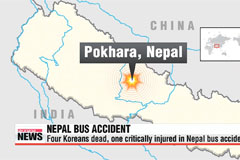 Four S. Koreans dead, one injured in Nepal car crash