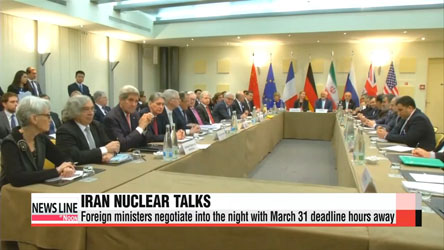 Foreign ministers negotiate into night with Iran nuke deadline hours away