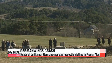 Heads of Lufthansa, Germanwings pay respect to victims in French Alps