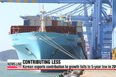 Korean exports contribute less and less to growth