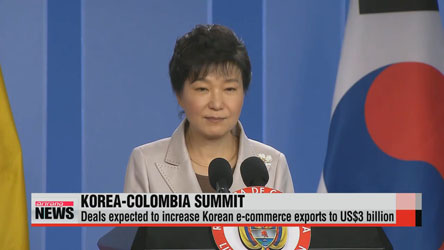 Leaders of Korea, Colombia seek to diversify economic cooperation