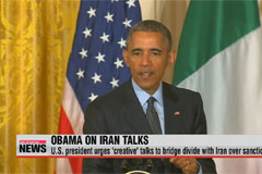 Obama urges 'creative' talks to bridge divide with Iran over sanctions