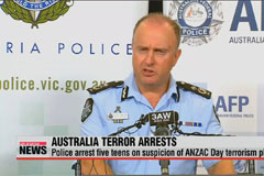Australia arrests five teens on suspicion of ANZAC Day terrorism plot