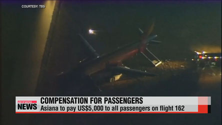 Asiana to compensate passengers for botched landing