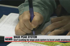Gov't pushing for wage peak system to boost youth employment