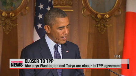 Japanese Prime Minister says U.S. and Japan are close to TPP deal