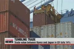Korea-Japan trade in Q1 falls 14%