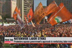 Hundreds of thousands in Korea strike against gov't labor reforms