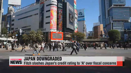 Fitch downgrades Japan's credit rating