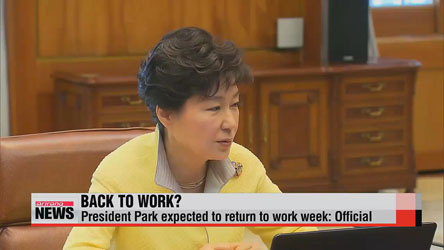 President Park expected to return to work this week