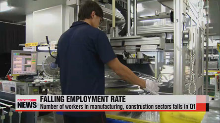 Number of workers in manufacturing, construction sectors falls in Q1