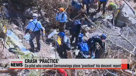Co-pilot who crashed Germanwings plane 'practiced' his descent: report