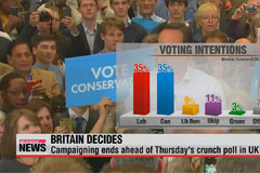 UK election: campaigning ends ahead of Thursday's poll