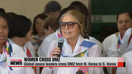Women cross DMZ to call for peace
