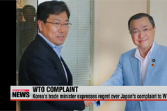 Korea's trade minister expresses regret about Japan's complaint to WTO