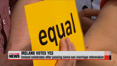 Ireland celebrates legalizing same-sex marriage
