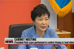 President Park urges parliament to confirm new prime minister
