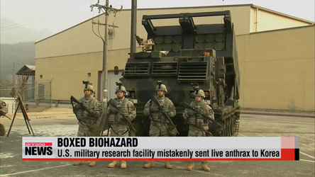 U.S. military mistakenly ships live anthrax to air force base in Korea