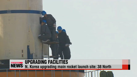 N. Korea continues to upgrade main rocket launch site: report
