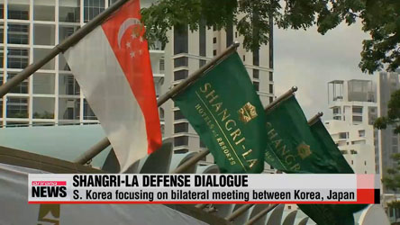Korea, Japan defense chiefs to hold one-on-one at Shangri-la Dialogue