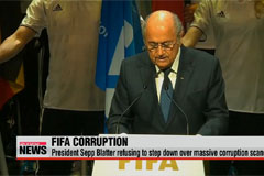 FIFA President Sepp Blatter refusing to step down over massive corruption scandal