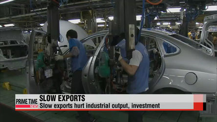 Korea's industrial output falls 0.3% m/m in April