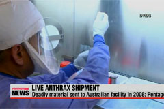 Live anthrax sent to Australian facility in 2008