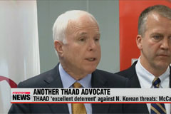 THAAD 'excellent deterrent' against N. Korean threats: McCain