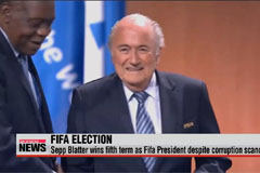 Sepp Blatter wins fifth term as Fifa President despite corruption scandal
